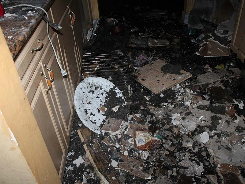 After a fire destroys your home it is best to let the professionals come and restore your home.