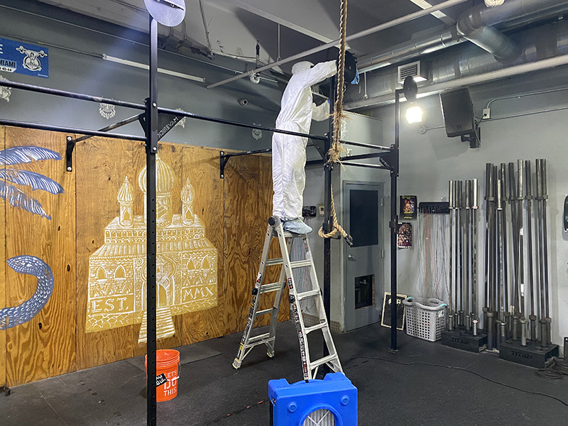 This gym is doing their part in keeping everyone safe by calling CleanPro Restoration