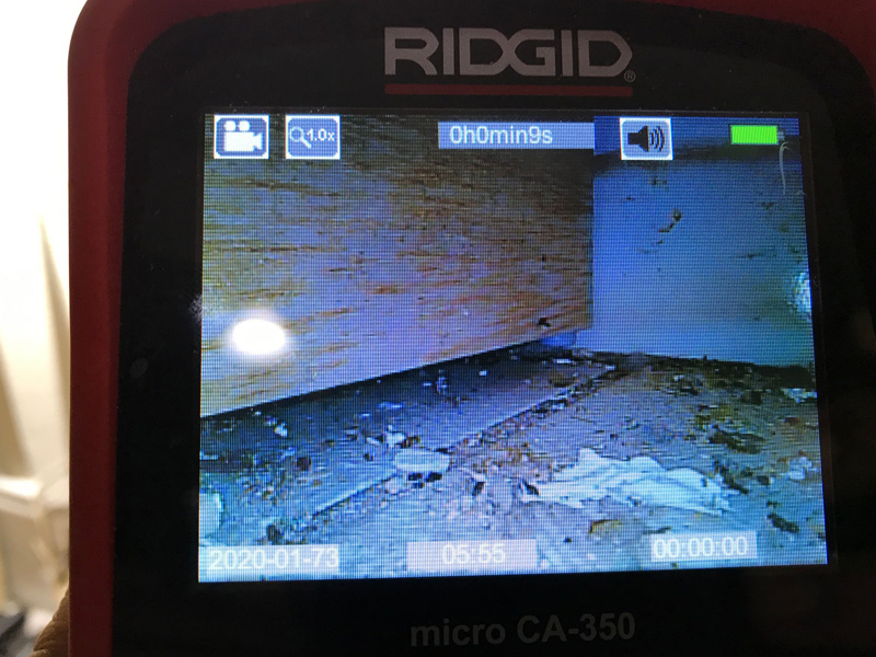 Our technicians also use cameras to help discover the leaks.
