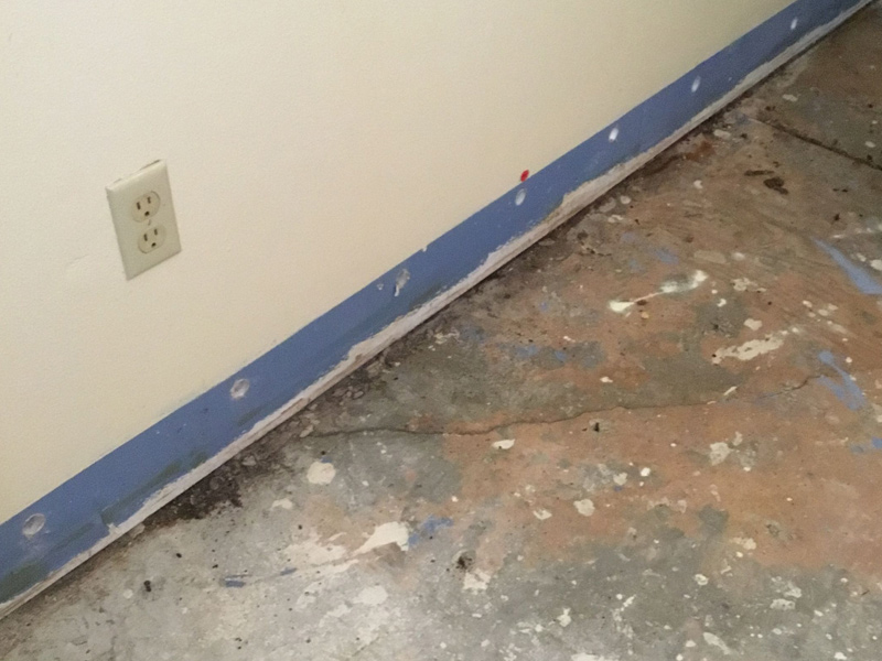 Our team restores a home from water damage cause by a shower pan.