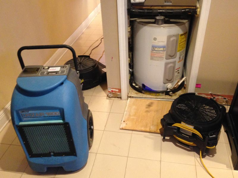 Always  consider a professional to mitigate the water damage to your home or office.